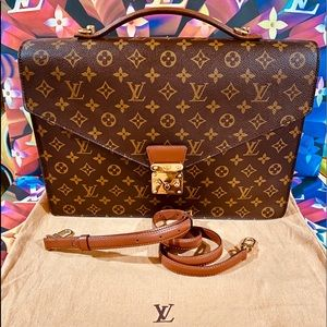 💼👉🏼Louis Vuitton Porte Document Briefcase